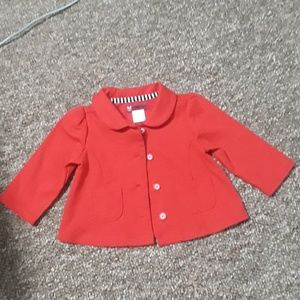Gymboree baby red button down jacket